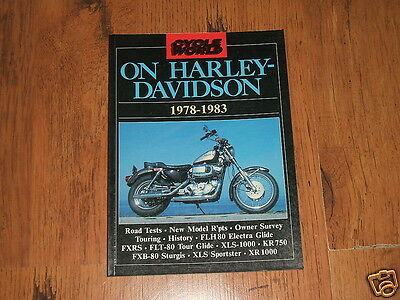 Cycle World on Harley-Davidson 1978 to 1983 - 80 page book;FLH80,XR1000,FXRS....
