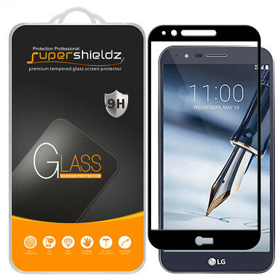 2X Supershieldz LG Stylo 3 Plus Full Cover Tempered Glass Screen Protector