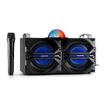 Bluetooth Stereo Speaker System Karaoke Mp3 Player Usb Fm Aux Led 2Mic Remote Dj