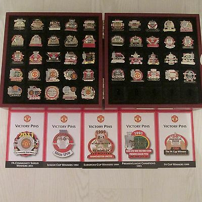 manchester united pin badges set of 45