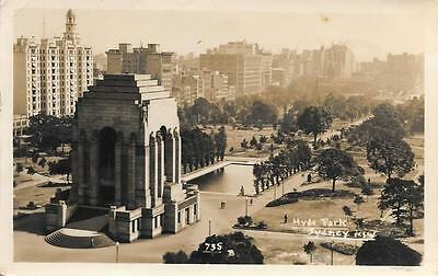1941 Australia Hyde Park Sydney New South Wales Used RP Postcard to UK