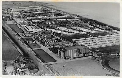 Late 1940s Butlins Holiday Camp Aerial View Skegness Lincolnshire RP Postcard