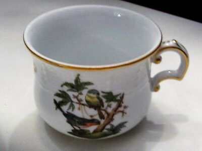 Herand Cup And Saucer - Rothschild - 711 - Birds And Butterflys
