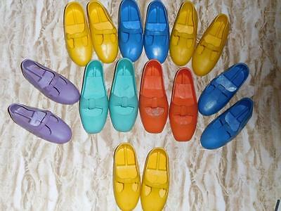 Big Vintage Doll Shoe Lot! Ideal Crissy Family Blue Yellow Orange Purple