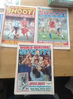 Shoot Magazine x 3 during World Cup finals, Spain 1982