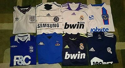14 ADULT  FOOTBALL  SHIRTS  BUNDLE / JOBLOT / COLLECTION  Small Jersey