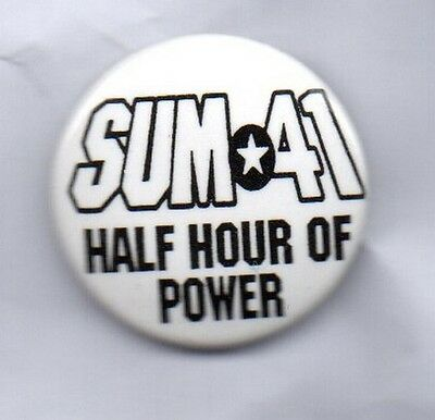 SUM 41 Half Hour Of Power BUTTON BADGE Canadian Rock Band 25mm Pin