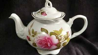 Arthur Wood and Son Teapot- Pink Roses