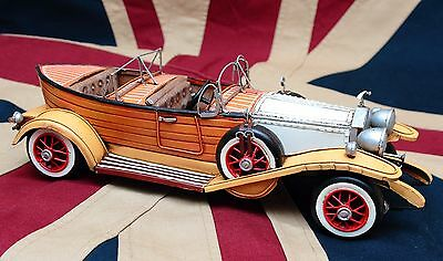 ROLLS ROYCE BOAT tin toy tinplate car blechmodell auto voiture tole latta