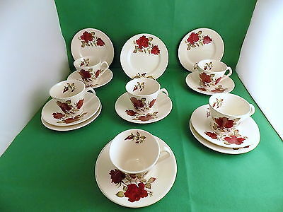 Lord Nelson Potery Red Roses Tea Set