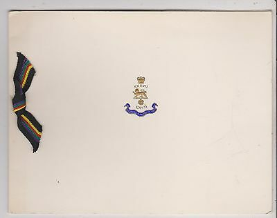 Army Christmas Card, Royal Hampshire Regiment - undated - used (203) (X)