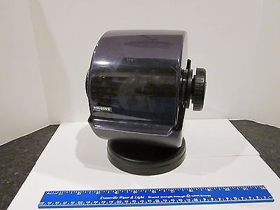 Vtg Rolodex Black Rotary Swivel Card File, Blank Cards + Dividers Included