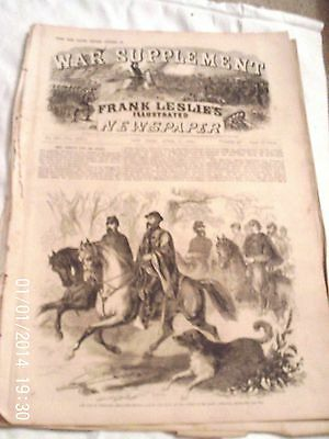 """frank Leslie's Illustrated Weekly""  Supplement April 5, 1862, Civil War, Asboth"
