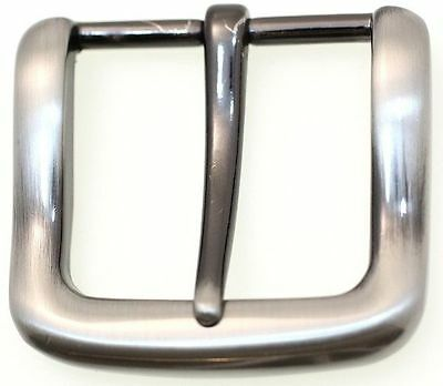 Replacement Belt Buckle Square Single Prong Plain Brushed Gun Metal Finish 1 1/4