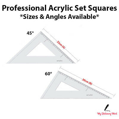Liquidraw Set Square Angle-Line Triangle Ruler 45° 60° Set Squares Acrylic