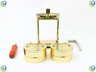 Dental Laboratory Spring Press Compress With Two Flask Bronze Alloy -  3 Pieces
