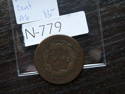 VINTAGE USA LARGE CENT 1826  Coronet Head         N779