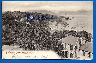 Old 1904 Frith Postcard Rothesay From Chapel Hill Argyll & Bute Nr Kingarth