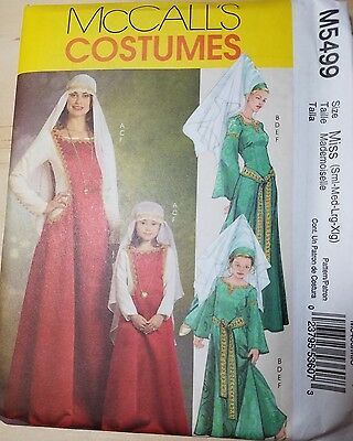 McCalls M5499 MISS SM-XL MEDIEVAL COSTUME HALOWEEN REENACTMENT COSPLAY THEATRE