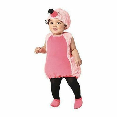 NWT Infant Baby Girl Plush Pink FLAMINGO Halloween Costume / Size 12-18 Months