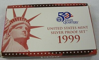 1999 S Silver Proof Set BOX & COA-NO COINS