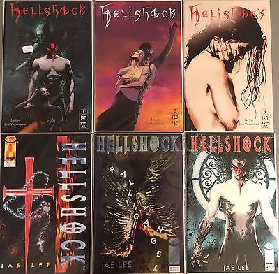 Lot of 6: Hellshock # 2 - 4 (1994) + # 1 - 3 (1997) Image Comics VF#
