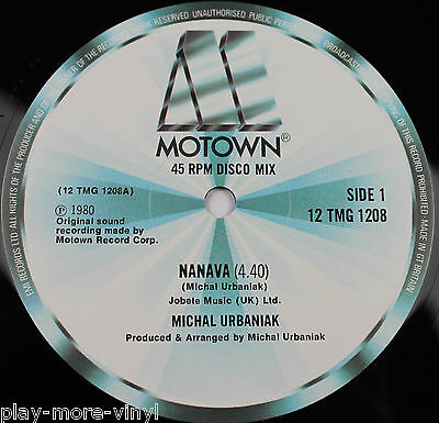 "MICHAL URBANIAK Navana / Joy 12"" vinyl UK 1980 Motown"