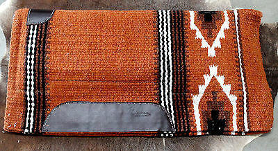 Wool Western Show Horse Trail SADDLE PAD Rodeo Blanket Tack  3819