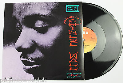 """PHILIP BAILEY Walking On The Chinese Wall 12"""" vinyl 85 CBS NM Earth Wind & Fire"""