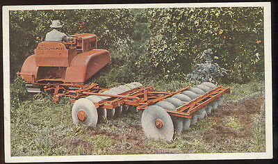 1950s POST CARD ADVERTISING ALLIS CHALMERS MODEL 'M' TRACTORS, ORCHARD TRACTOR+