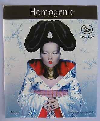 Bjork Homogenic Rare ad clipping from portuguese magazine