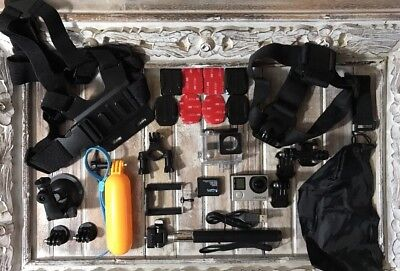 GoPro HERO4 Silver Camera CHDHY-401 + Huge Lot Of New Extras