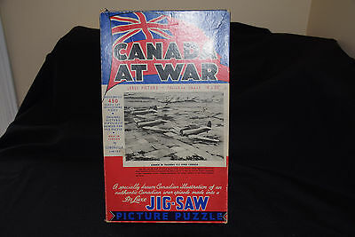Vintage CANADA AT WAR Deluxe Jig-Saw Picture Puzzle - Open Box