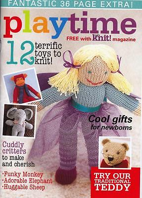 36 Page Book 'playtime': 12 Terrific Toys To Knit: See Details & Pics In Listing