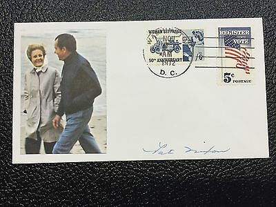 Pat Nixon Atographed 1972 Election Day Cover-One Of A Kind!!!