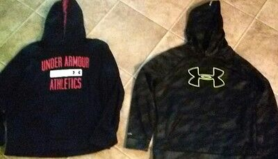 lot of 2 Boys size youth XL under armour Hoodies