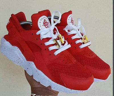 Men's Air Huarache Sport Shoes Sneakers Athletic Shoes 16 Colors white red