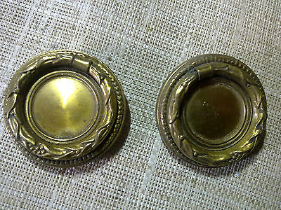 brass ring handles x 2, antique or vintage
