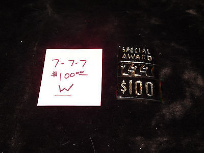 Mills Repro 777 Special $100 Award Hi Top Plate For A Mills Antq Slot Machine #w