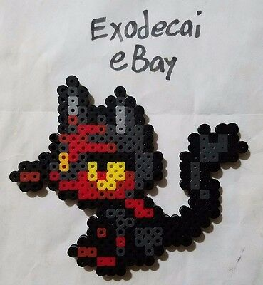 Litten Pokemon Bead Sprite Perler Art Menu Icon