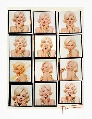Signed by Bert Stern Contact Sheet of Marilyn Monroe + Collector's Book