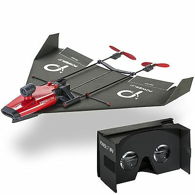 PowerUp FPV Paper Airplane VR Drone Model Kit Red