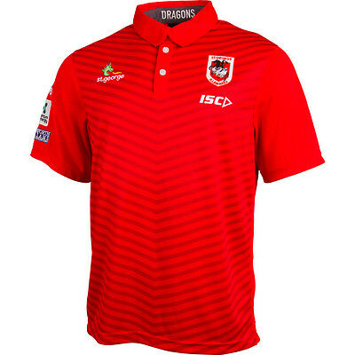 St George Illawarra Dragons NRL ISC Players Media Polo Shirt Size S-5XL! 6