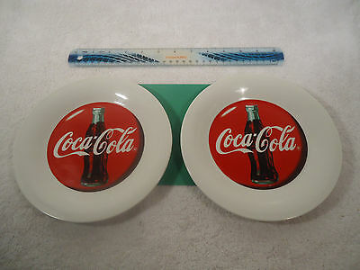 """COCA COLA  7-3/4"""" PLATES BY gibson - 1996 - Set of Two"""
