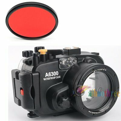 Meikon 40m 130ft Waterproof Diving Camera Case Cover For Sony A6300 16-50mm Lens