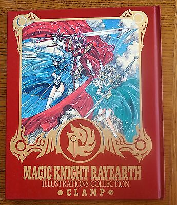 Magic Knight RAYEARTH Illustration Collection Art Book w/Poster / CLAMP Japan