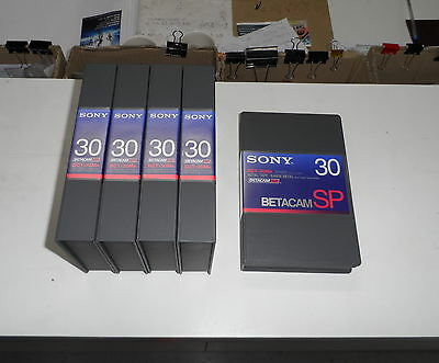 5 New Sony BCT-30MA BETACAM SP Tapes