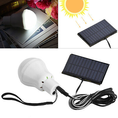 Solar Power 12 LED Rechargeable Bulb Light Outdoor Camping Yard Lamp Pure White