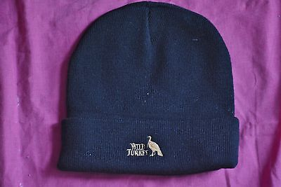 WILD TURKEY Black Beanie Collectable. LOGO PRINT on Front. NEW. Rare Promo Item