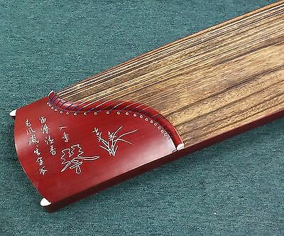 "49"" Travel Size 21-String Guzheng Chinese Zither Harp Koto Instrument"